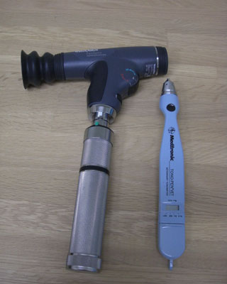 パンオプティック顕眼鏡、眼圧測定器